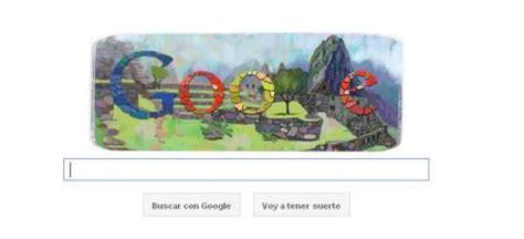 doodle de hoy 7 de julio machu picchu celebra centenario taringa