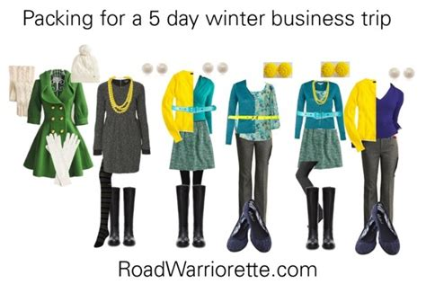 5 day pack business trip help road warriorette