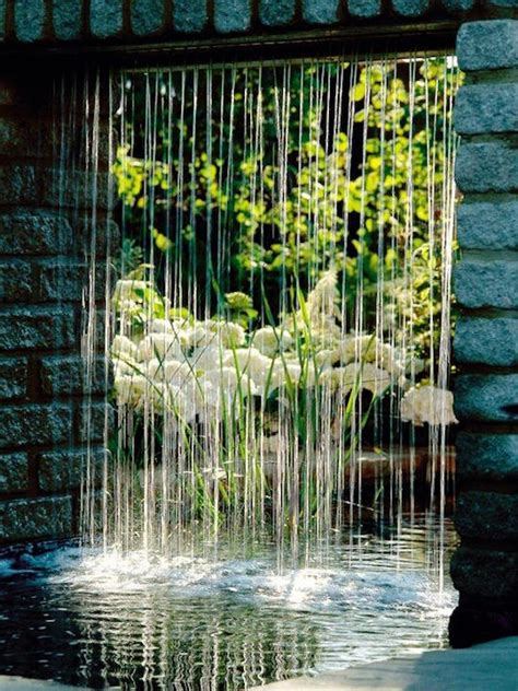 Rain Curtain Water Features Botanica Water Wall Features For The Garden