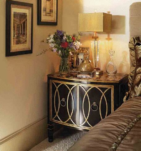 high end master bedroom set four poster bed embossed four poster bed inset antique mirror detailing