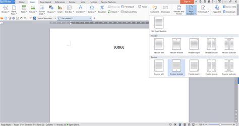 membuat web satu halaman cara membuat halaman berbeda dalam satu file di wps writer