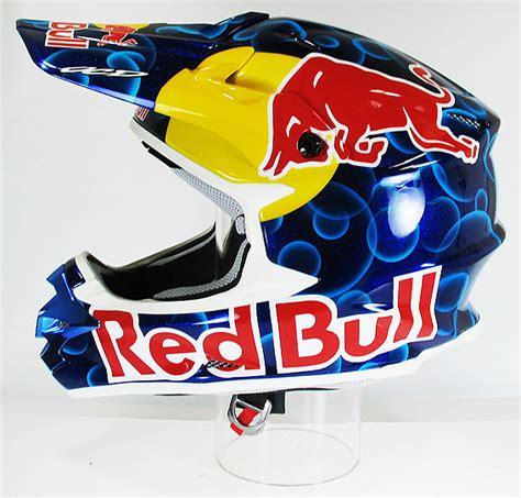 redbull motocross helmet ocd opilard chris designs custom painted helmet