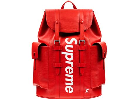 supreme bag louis vuitton x supreme christopher backpack epi pm