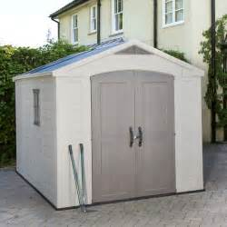 keter factor 8ft 5 quot x 11ft shed 2 6 x 3 3m costco uk