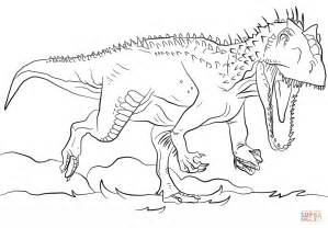 jurassic park coloring pages jurassic park indominus rex coloring page free printable