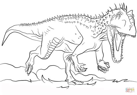 jurassic world coloring pages online jurassic park indominus rex coloring page free printable
