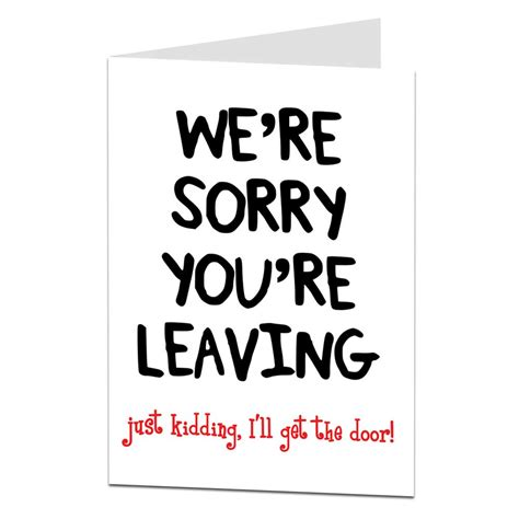 Get The Door by Sarcastic Leaving Card I Ll Get The Door Limalima