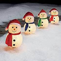snowman outdoor lights lighted pathway lighting decorations