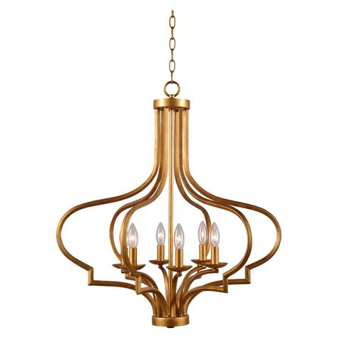 Gold Chandelier Light by Kenroy Home Morocco 6 Light Gold Chandelier 93706gld The
