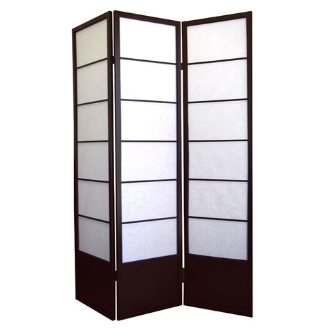 ore international shogun 3 panel room divider by oj commerce r5419 114 23