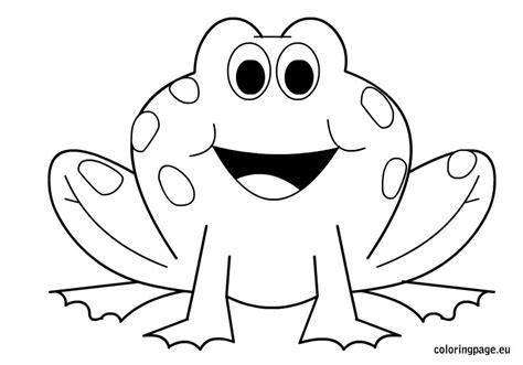 coloring page for frog frogs coloring page