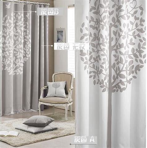 pink living room curtains modern window curtains printed tree grey pink living room