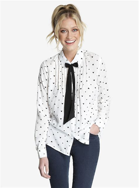 Blouse Minnie Mouse disney minnie mouse front tie blouse boxlunch