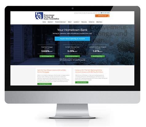 bank website design banking website design gouverneur savings loan