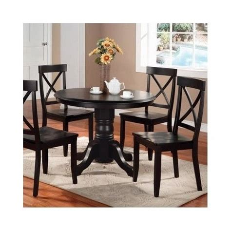 shino black 5 piece dining room furniture set free round dining set 5 piece pedestal table chairs antique