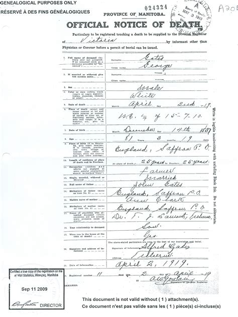 Manitoba Canada Marriage Records Bigelow Family History Gates Documents