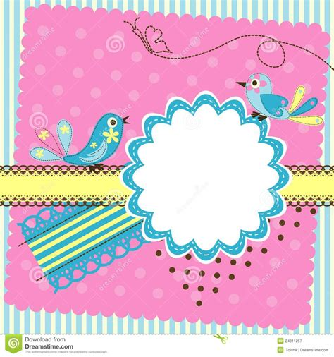 greeting card with photo template template greeting card stock vector illustration of