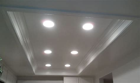 t bar ceiling lights replaced t bar lid with led can lights new texture