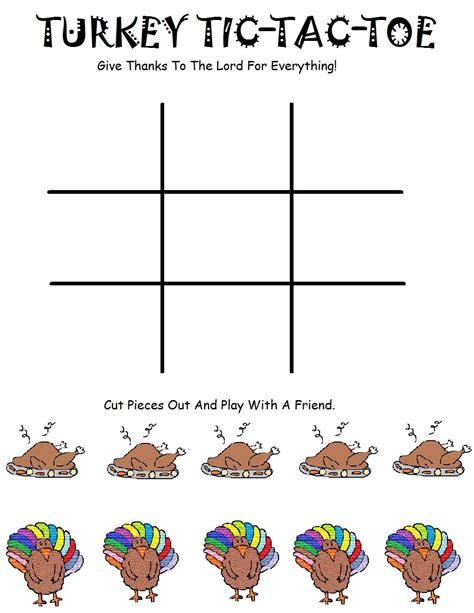 church house collection blog turkey tic tac toe game