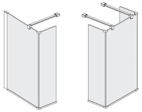 fixation pour paroi de ideal standard pare connect verre transparent distriartisan