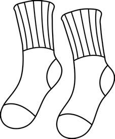 sock coloring page pair of socks line free clip