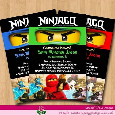 printable lego ninjago birthday invitations lego ninjago party invitation printable free birthday