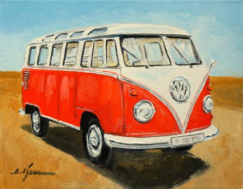 vw bus painting  paintingvalleycom explore collection  vw bus painting
