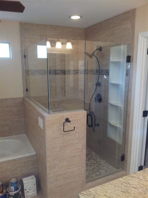bathroom remodel shower 187 shower remodelprecision roofers remodeling llc plano