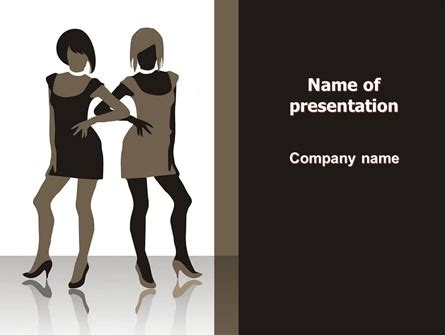 Fashion Models Powerpoint Template Backgrounds 05665 Fashion Powerpoint Templates Free