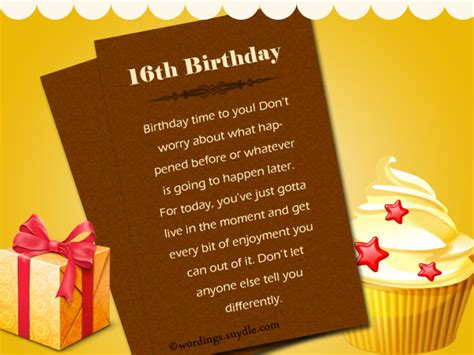 16th Birthday Quotes 16th Birthday Wishes Messages And Greetings Wordings