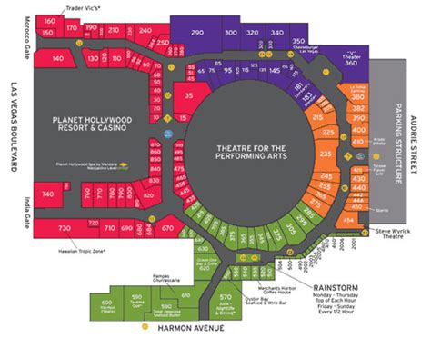 planet hollywood las vegas floor plan miracle mile shops las vegas shopping planet hollywood