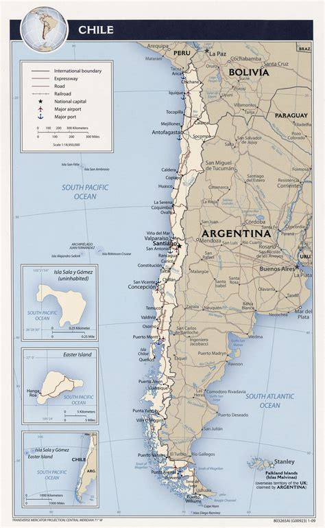 chile political map large detailed political and administrative map of chile