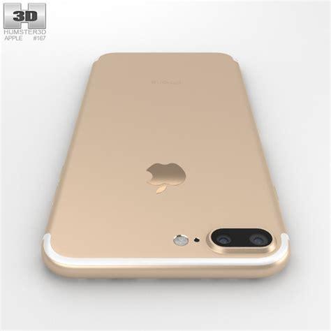 apple iphone 7 plus gold 3d model hum3d