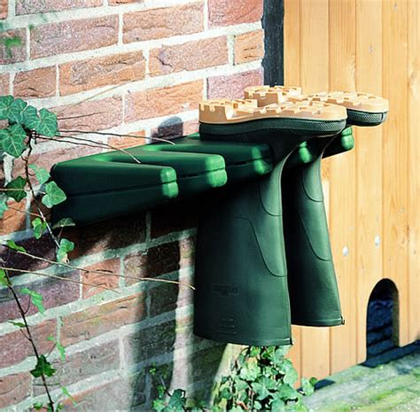 store welly boot storage rack green