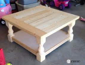 How To Make A Square Coffee Table Diy Square Coffee Table Shanty 2 Chic