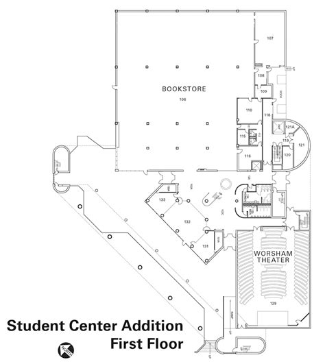 student center floor plan student center addition first floor the university of