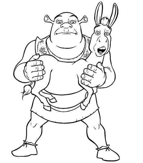 shrek coloring pages coloring page