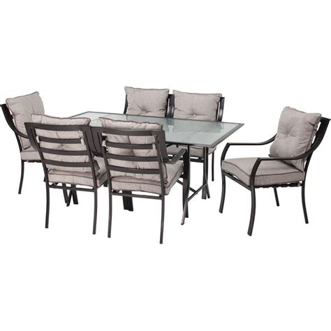 patio dining set 7 hanover lavallette 7 patio outdoor dining set lavallette7pc the home depot