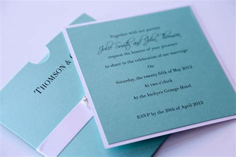 light blue wedding invitations uk blue wallet wedding invitation with h and