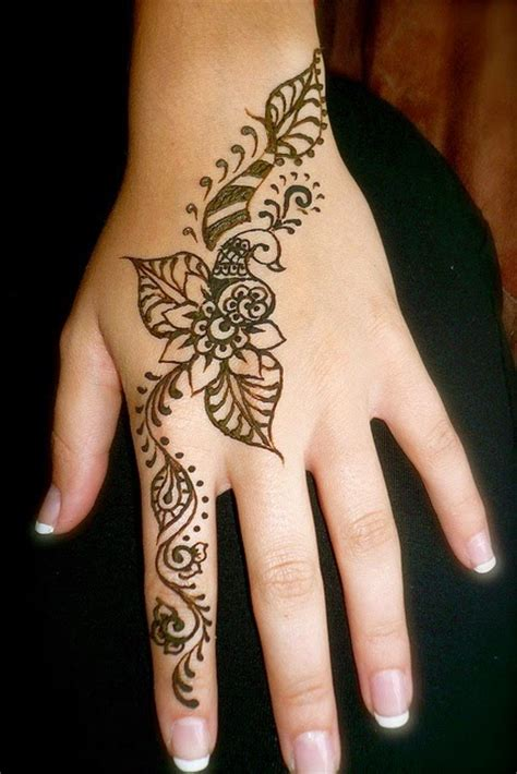 henna hand finger tattoo simple and henna designs for
