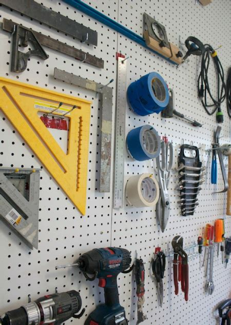 pegboard ideas for tools pegboard diy kitchen garage 6 clutch diy pegboard ideas that ll make your garage smile