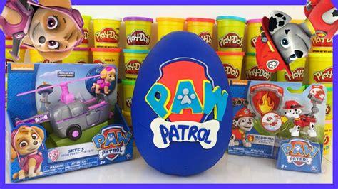 Blind Bag Toys Paw Patrol paw patrol play doh egg marshall