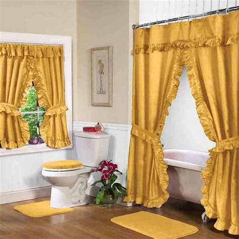 Classic Bathroom Ideas shimmer sequin ribbon shower curtain cablecarchic