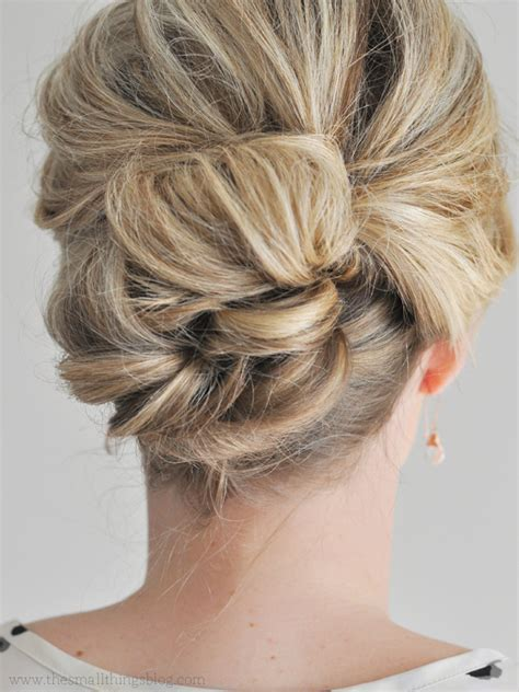 do it yourself hairstyles for fine hair easier than it looks updo tutorial the small things blog