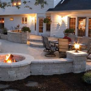 Patio Layout by Fire Pit Patio Layout Pinpoint