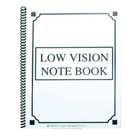 printable writing paper for visually impaired maxiaids low vision notebook bold lines yellow paper