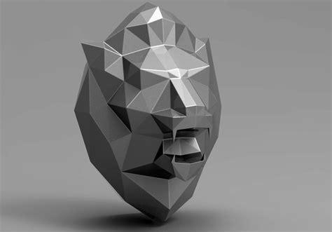 lion head   model  printable obj stl cgtradercom