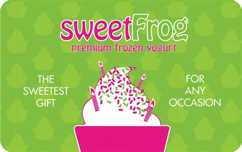Sweet Frog Gift Card Deal - sweetfrog gift card