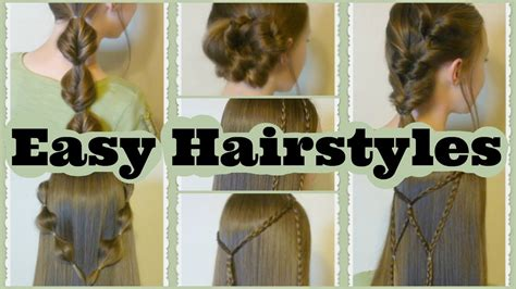 how to do easy hairstyles for school youtube 7 quick and easy hairstyles part 2 youtube