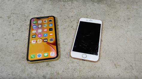 iphone xr outlasts iphone 8 in drop test but durability test shows scuff prone aluminum edges